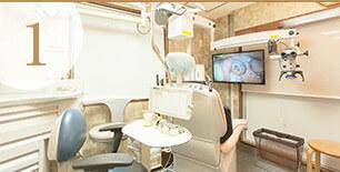 プライベート個室の診療スペース