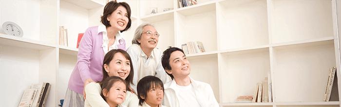 健康な歯の家族